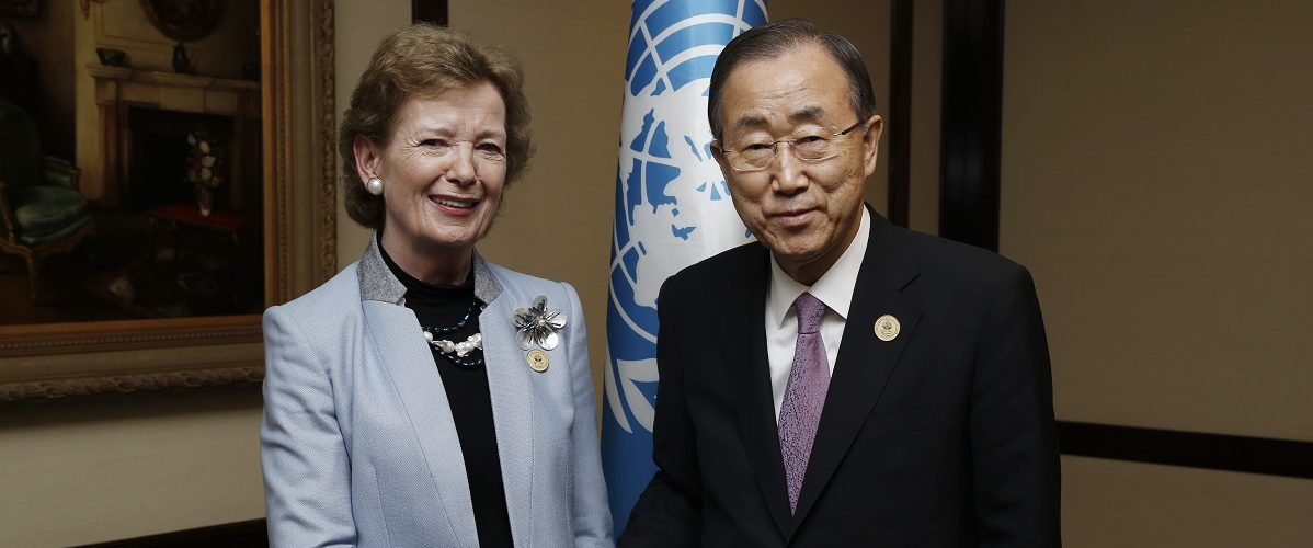 Meeting with Ms. Mary Robinson, UN Special Envoy on Climate Change  at the Sheraton Hotel, Santiago