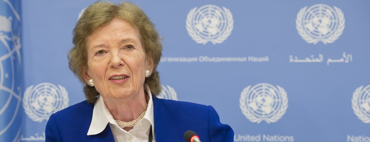 Press conference by the Secretary-General's Special Envoys on El Ni–o and Climate, Mary Robinson and Macharia Kamau. They will brief reporters on El Ni–o-affected countries and the High-level event on Responding to the Impacts El Ni–o and Mitigating Recurring Climate Risks (19 July)