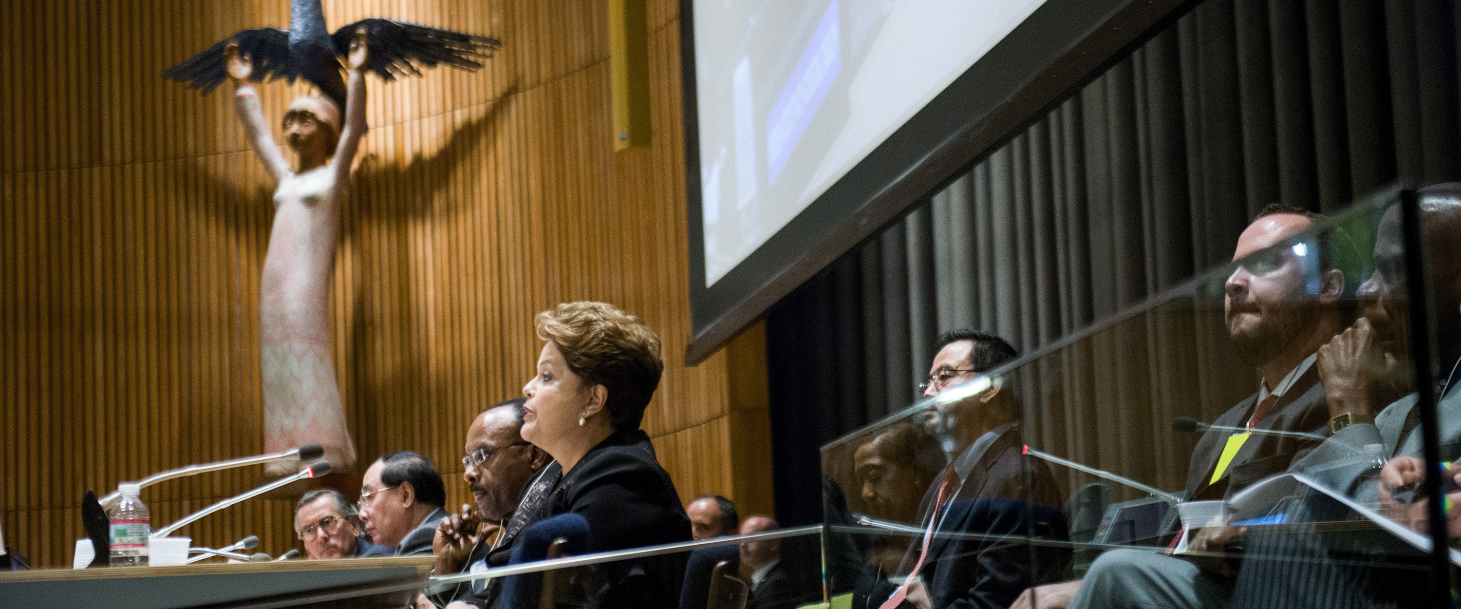President of Brazil speaks during the Inaugural Meeting of the High-level Political Forum (HLPF) on Sustainable Development (Trusteeship Council Chamber, CB)